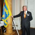 Bo Gunnarson, föreningens 2:e fanförare