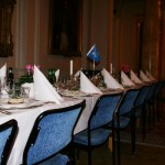 Borden är dukade