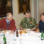 Lunch på mässen. Erland Charlsworth, Kn Magnus Zetterberg och Sven Boman