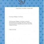 Konung Carl XVI Gustavs hälsning till FFjS