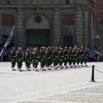 Pågående högvakt ur Fältjägargruppen förstäkta med hemvärnssoldater ur Västernorrlandsgruppen