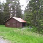 Fältjägarstugan belägen norr kassernområdet i Dagsådalen. Foto 2006-06-18.