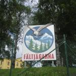 Skylt Fältjägarmärke i hörnet E 14 – Fältjägargränd. Foto: 2005-06-19