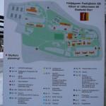 """Orienteringstavla vid """"grinden"""" framför kanslihuset. Foto: 2008-02-16"""